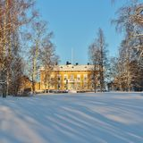 The Residence in Luleå in winter landscape Stock Images