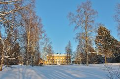 The Residence in Luleå in winter landscape Stock Photo