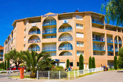 Residence Mer And Golf Port Argeles is set in beach area of Argeles-sur-Mer in Pyrenees-Or Stock Image