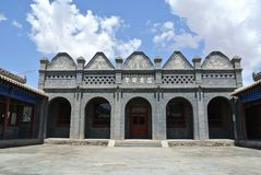 The Residence of the Mongolian Princes in Alxa Stock Images