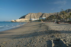 Residence in Oman. Sandy beach in Oman Stock Images