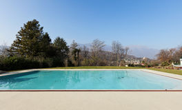 Residence outdoor, pool Royalty Free Stock Image