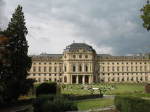 The Residence Palace. In the Wurzburg royalty free stock photography