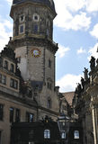 Residence Palace Tower from Dresden in Germany Royalty Free Stock Images