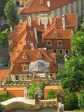 Residence - Prague roofs (Czech republic) Stock Photo