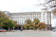 Residence of the President of Bulgaria. SOFIA, BULGARIA - CIRCA OCTOBER 2013 - The Residence of the President of the Republic of Bulgaria facade in autumn Royalty Free Stock Image