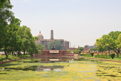 Residence of the President of India. New Delhi Royalty Free Stock Photography