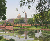 Residence of the President of India. New Delhi. View of Residence of the President of India. New Delhi stock photos