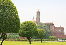 Residence of the President of India. New Delhi. View of Residence of the President of India. New Delhi stock images