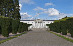 Residence of the President of Ireland. Áras an Uachtaráin (Irish presidential house) in Phoenix park, Dublin stock photography