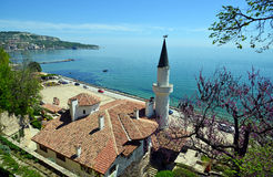 Residence of the Romanian queen by the black sea in Balchik Stock Photography