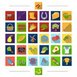 Residence, sport, recreation and other web icon in cartoon style. Fruits, nature, summer icons in set collection. Royalty Free Stock Images