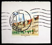 Residence Square and Cathedral, Eichstatt, serie, circa 2008. MOSCOW, RUSSIA - JUNE 19, 2019: Postage stamp printed in Germany, Federal Republic, shows Residence royalty free stock photos