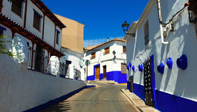 Residence street of Campo de Criptana Stock Photo