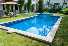 Residence with swimming pool Stock Photo