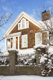 Residence in Winter Royalty Free Stock Photo