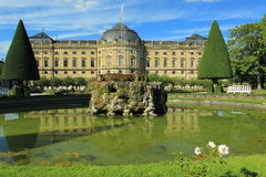 Residence in Wurzburg. The Wurzburg Residence in Bavaria, Germany royalty free stock image