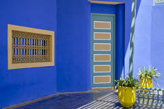 Residence of Yves St Laurent in Marrakech Stock Photo