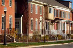 Residences. A picture of a row of houses in suburban Detroit Royalty Free Stock Image