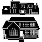 Residences building vector 5 Royalty Free Stock Photos