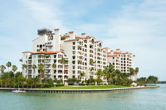 Residences at Fisher Island in Miami Stock Photo
