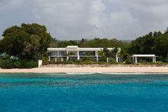 Residences off the coast of Barbados. Residences as seen from a catamaran off the coastline of Barbados Stock Images