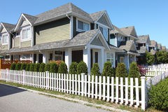 Residences in Richmond BC Canada. Royalty Free Stock Photo