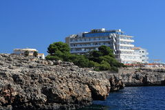 Residences, Rock, Cruise Ship from Es Forti, Cala d´Or, Cala Gran, Cala Esmeralda, Cala Ferrera to Porto Colom, Majorca Royalty Free Stock Image