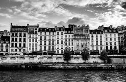 Residences on the Seine River, Paris, France Royalty Free Stock Photos