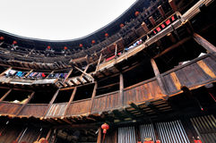 Residencia del castillo de la tierra, Fujian, China Fotos de archivo libres de regalías