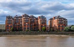 Residencia moderna en el extremo de la arena, Fulham, Londres fotos de archivo libres de regalías