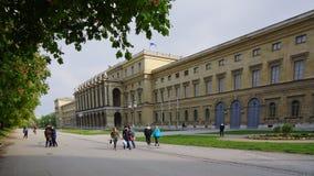 Residencia real de la arquitectura cuadrada de los odeons de Munich de Baviera foto de archivo