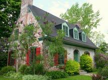 Residencia vieja hermosa del estuco Foto de archivo libre de regalías