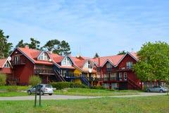A residencial em Nida, Lituânia imagens de stock royalty free
