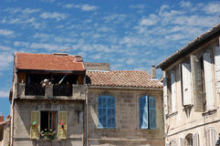 Residencial houses. Residenciall houses in Arles, southern France Royalty Free Stock Photos