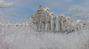 Residencial na cidade de Minsk Fotografia de Stock Royalty Free