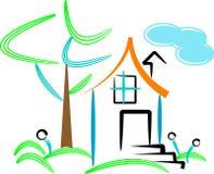 Resident. Brush stroke line art work of resident Royalty Free Stock Images