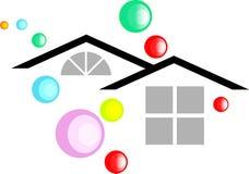 Resident. Isolated line art residential logo Stock Images