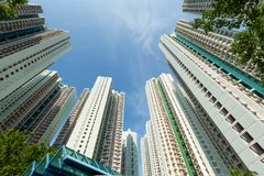 Resident apartment building to the sky Royalty Free Stock Images