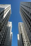 Resident apartment buildings against blue sky.  Royalty Free Stock Photo