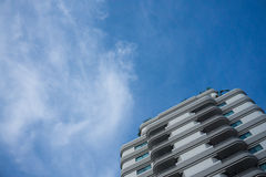 Resident building with blue sky background Royalty Free Stock Images