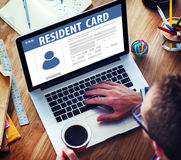 Resident Card Identification Data Information Immigration Concep Royalty Free Stock Image