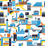 Resident House. A colourful seamless repeat resident house pattern Royalty Free Stock Photos