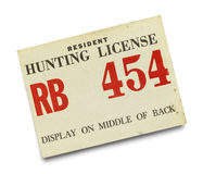 Resident Hunting License Stock Photos