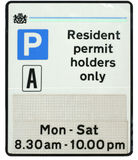 Resident Parking Sign Royalty Free Stock Photography
