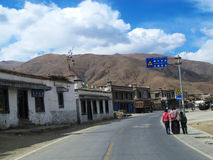 Resident population in Tibet Stock Images
