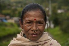 resident of the village of Jiri Stock Image