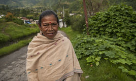 resident of the village of Jiri Royalty Free Stock Photo