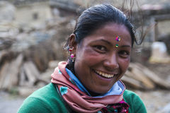 Resident of the village Marpha Royalty Free Stock Photo