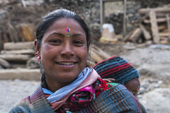 Resident of the village Marpha Royalty Free Stock Photography